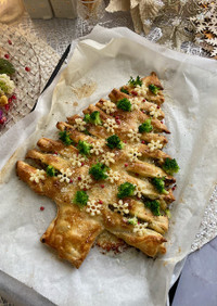 冷凍パイシートで作るクリスマスツリーパイ