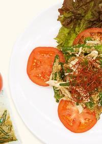 オクラごま鶏ささみのバンバンジー風サラダ