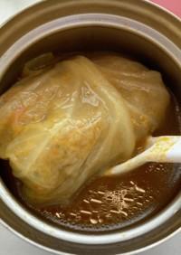 スープジャーで味しみロールキャベツ