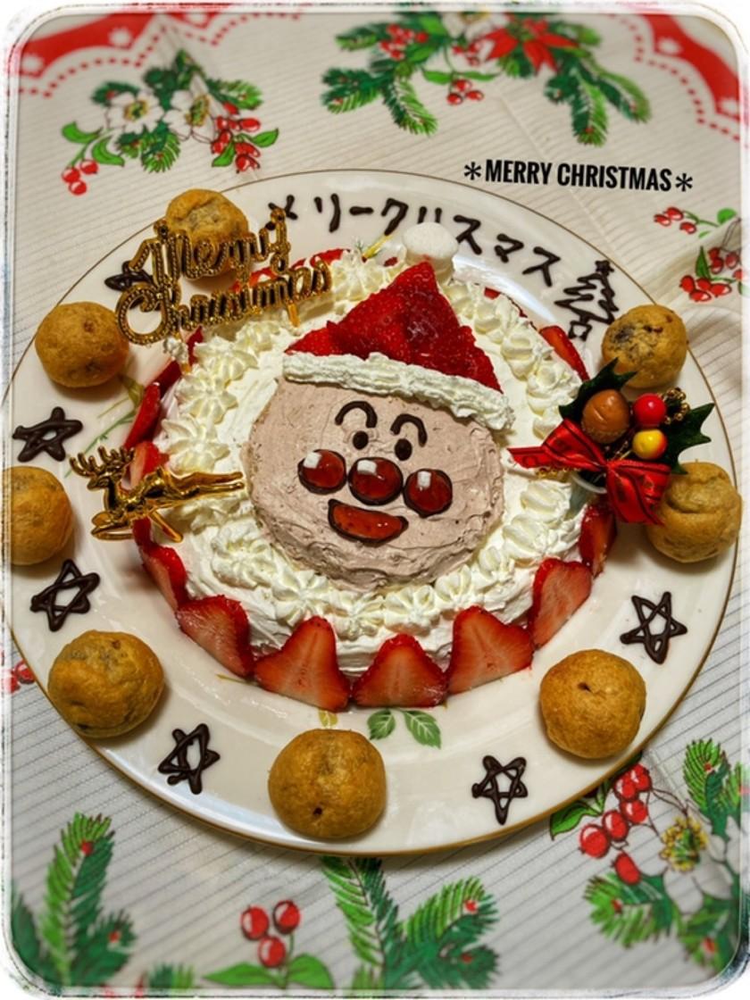 簡単☆アンパンマンのクリスマスケーキ☆
