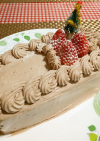 ★おからとココアで*クリスマスケーキ*♪