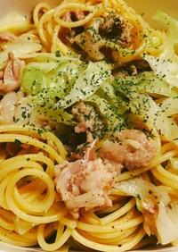 お弁当★豚肉とキャベツの柚胡椒パスタ★
