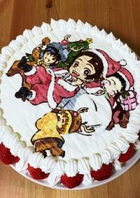クリスマスケーキ の スポンジ部分