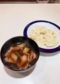 豚バラ肉と長ネギの武蔵野風つけ汁
