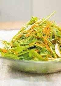水菜とサラダチキンのメンマ和え