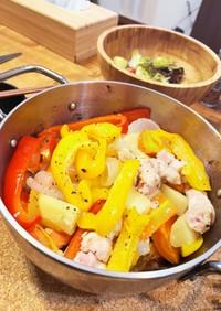 ダッチオーブン 鶏肉と野菜入れるだけ