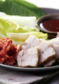 韓国風蒸し豚【レンジで8分】