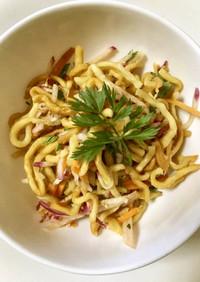 会津伝統野菜で作る!アジアンサラダ