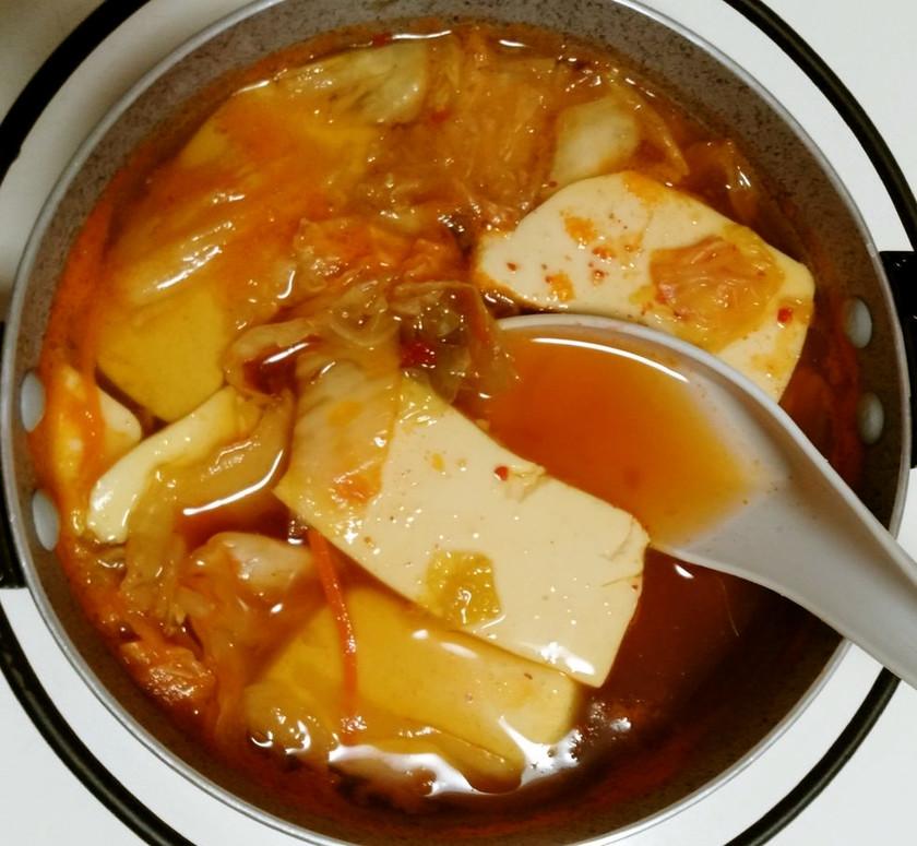 簡単一人鍋(キムチ味)