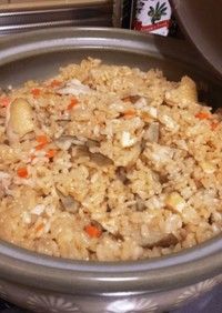 鶏ごぼう 土鍋で炊き込みご飯