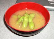 山形庄内地方の味☆枝豆のお味噌汁の写真
