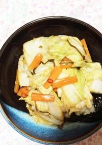 白菜(野沢菜)の即席漬物