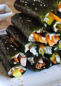 簡単なミニ海苔巻き(ミニキンパ)韓国式