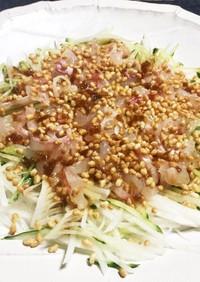 鯛のお刺身でカリッと香ばしい超簡単サラダ