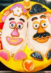 ♡Mr.&Mrs.ポテトヘッドケーキ♡