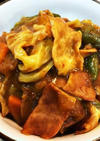 キャベツ&ベーコンと残り物野菜のカレー煮