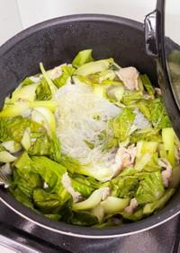 チンゲンサイと豚肉のスープ