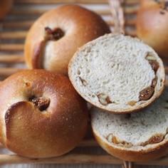 低温長時間発酵の全粒粉ベーグル