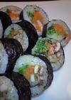 焼肉のたれで、簡単☆ビビンバ風巻き寿司♪