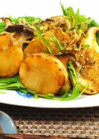 山芋とエリンギのカリカリじゃこ和風サラダ
