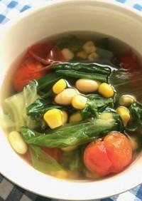 ≪超簡単≫ちぎりレタスのコンソメスープ