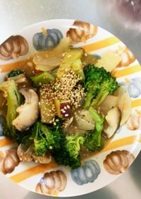 肉なし根菜たっぷり中華ドレッシングサラダ