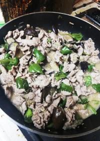 茄子ピーマン豚肉の味噌炒め