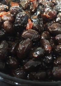 コチュジャンを使った甘くない黒豆