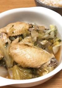 あったか♪鶏手羽元と大根の鍋風スープ