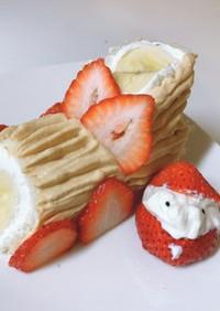 離乳食ブッシュドノエル風 卵不使用