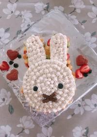 簡単!デコレーションケーキ(ミッフィー)