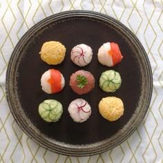 お祝いに♡ラップで簡単手まり寿司