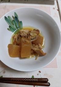 ホットクックで鶏もも肉と大根の煮物
