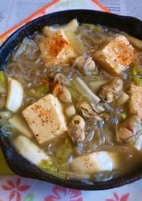 イシスキで牡蠣鍋