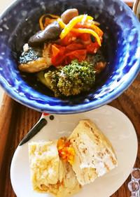 塩サバとキノコ柚子マリネ…豆皿1品