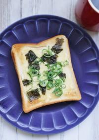 朝食に!簡単♪味付け海苔のマヨトースト