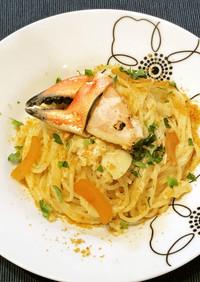 蟹とカラスミのスパゲッティ