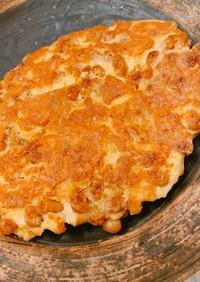 腸活!?大豆粉と納豆のチーズオムレツ