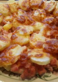 ハムとじゃがいものチーズ焼き