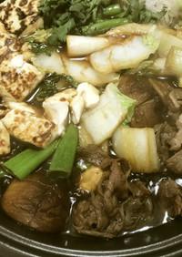 「こっち」のすき焼き・焼き豆腐準備から