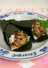 穴子蒲焼マヨ de 手巻き寿司