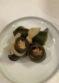 鮭とごぼうの昆布巻き