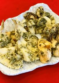 白身魚と野菜の生海苔衣天ぷら