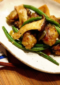 薬膳★エリンギと牡蠣のトウチ炒め
