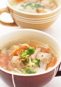 鍋にも使える♬塩こうじの和風スープ