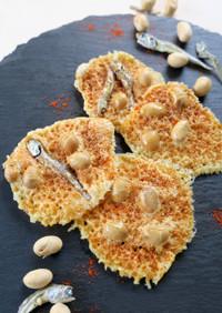 材料2つ!レンジde福豆チーズ煎餅