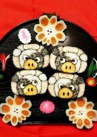 飾り巻き寿司♡干支♡丑年♡牛さん