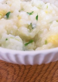炊飯器で簡単、中華風七草粥!