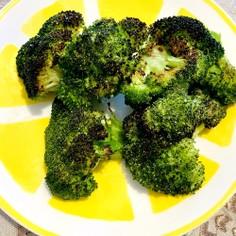 ブロッコリーの塩焼き