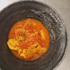 カット野菜で簡単!鶏もも肉のトマト煮